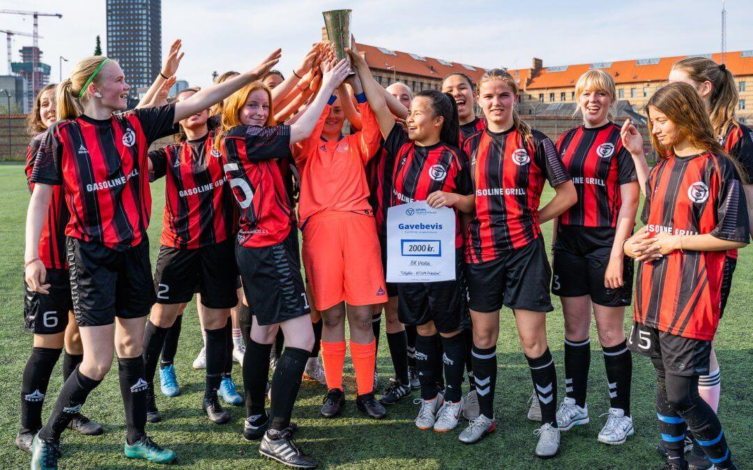 Årets 'KFUM Pokalen' til BK Vestias U16 piger