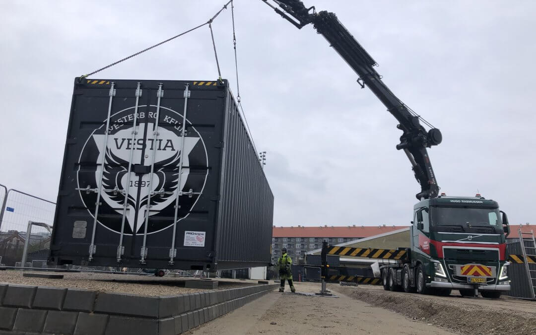 Nye materialecontainere på plads